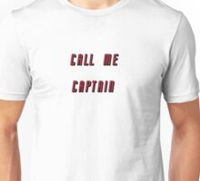 Call Me Captain: red version Unisex T-Shirt