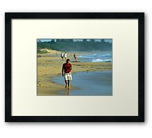 Sand Between the Toes Framed Print