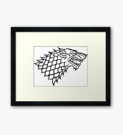Stark (Game of Thrones) Framed Print