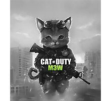 Cat of Duty Photographic Print