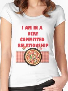 Pizza Relationship Women's Fitted Scoop T-Shirt