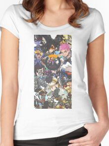 Overwatch Cute Spray With Logo Women's Fitted Scoop T-Shirt