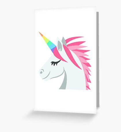 Unicorn Emoji Greeting Card