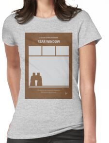 No238 My Rear window minimal movie poster Womens Fitted T-Shirt