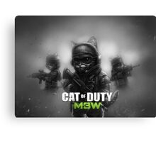 Cat of Duty 2 Canvas Print