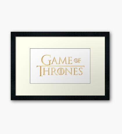 Game of Thrones (Gold Logo) Framed Print