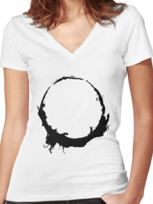 Arrival symbol 2 Women's Fitted V-Neck T-Shirt