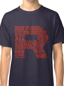 Team Rocket R Typography Classic T-Shirt