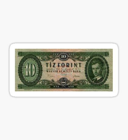 10 Forint paper money , Hungary  Sticker