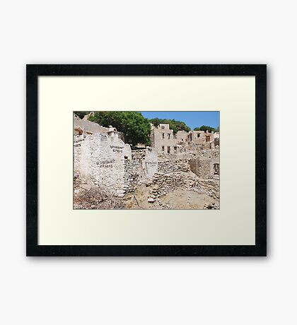 Mikro Chorio ruins, Tilos Framed Print
