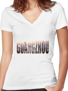 Guangzhou Women's Fitted V-Neck T-Shirt