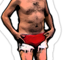 Tobias The Never nude Sticker