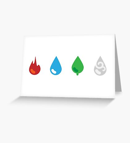 Four Element Droplets Greeting Card