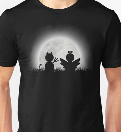 Angel and Devil Moon Meeting Unisex T-Shirt