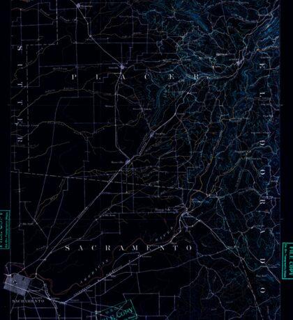 USGS TOPO Map California CA Sacramento 299588 1891 125000 geo Inverted Sticker