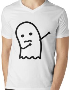 ghost dab Mens V-Neck T-Shirt