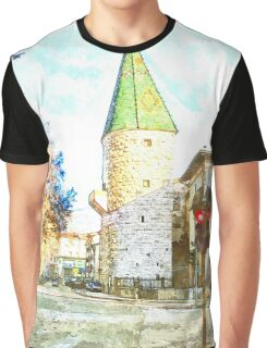 tower and traffic lights Graphic T-Shirt