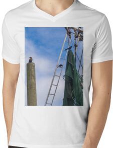 Fish ship Mens V-Neck T-Shirt