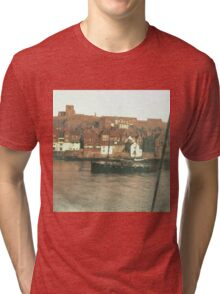 Whitby Harbour, North Yorkshire Tri-blend T-Shirt