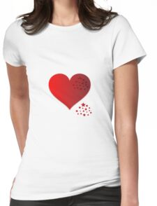 My Heart Womens Fitted T-Shirt