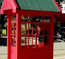 Red Telephone Box Christchurch  New Zealand by Sandra  Sengstock-Miller