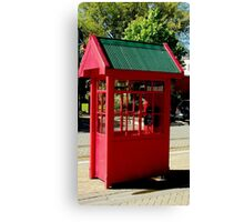 Red Telephone Box Christchurch  New Zealand Canvas Print