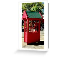 Red Telephone Box Christchurch  New Zealand Greeting Card