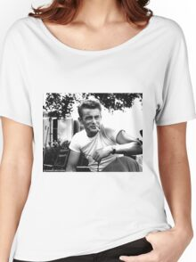 James Dean - Smoking Black and White Women's Relaxed Fit T-Shirt
