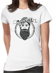 Lumberjack Logo Raglan 3/4 Tee Black & White Womens Fitted T-Shirt