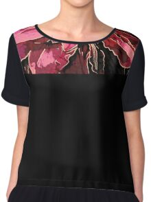 Clematis Up Close & Personal Chiffon Top