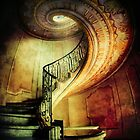 Spiral staircase with painted ornaments by JBlaminsky