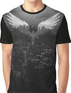 City Angel Black Graphic T-Shirt