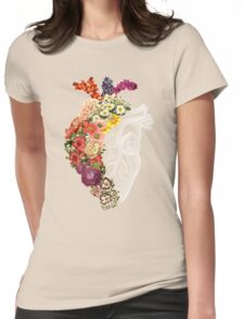 Flower Heart Spring Womens Fitted T-Shirt