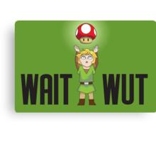 Zelda/Mario - Wait WUT Canvas Print