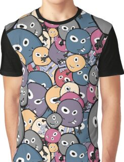 Cute cartoon monsters seamless Graphic T-Shirt