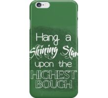 Hang a Shining Star Christmas Typography iPhone Case/Skin
