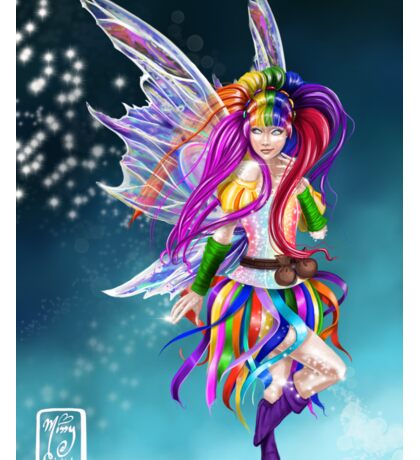 Colorful Rainbow Fairy Flitt Sticker