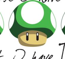 Super Mario - On Getting a Life Sticker