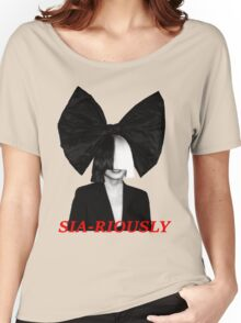 SIA-RIOUSLY Women's Relaxed Fit T-Shirt