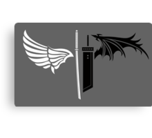 Final Fantasy VII - One Winged Angels on dark Canvas Print