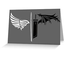 Final Fantasy VII - One Winged Angels on dark Greeting Card