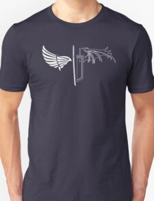 Final Fantasy VII - One Winged Angels on dark Unisex T-Shirt