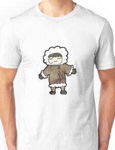 cartoon man in winter fur coat Unisex T-Shirt