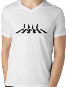 Abbey road (Black) Mens V-Neck T-Shirt