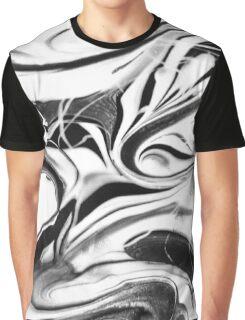 Black and White Swirl Graphic T-Shirt