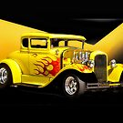 1930 Ford Model A Coupe 'Flames and Fenders' by DaveKoontz