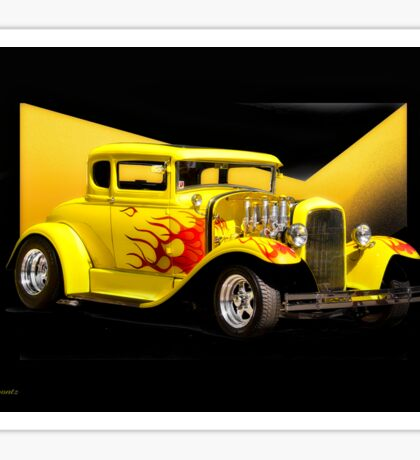 1930 Ford Model A Coupe 'Flames and Fenders' Sticker