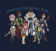 Final Fantasy XIII - Pick Your Battle Team! Kids Tee