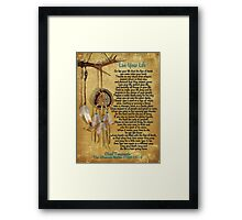 """""""Live Your Life"""",Chief Tecumseh watercolor effect Framed Print"""