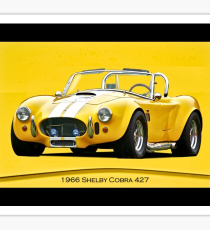 1966 Shelby Cobra 427 cu. In. Sticker